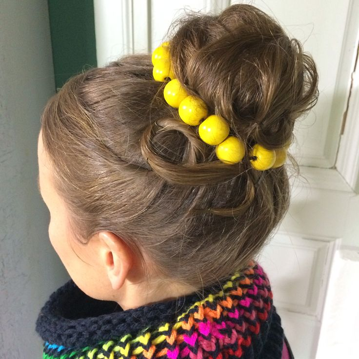Updo with beads