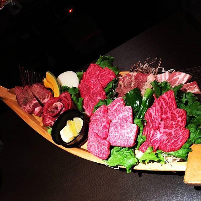 food🍴  肉!!!!! 最高!!!!!!! #焼肉#肉#牛の恵み#北九州#小倉#美味#イチボ#かいのみ#厚切りタン#タン#カルビ#ロース#豚バラ#地鶏