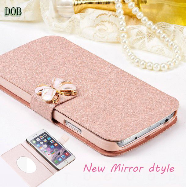 Luxury Flip Pu Leather Case Cover For Alcatel One Touch Pop C5 5036 OT5036 5036D C 5 OT 5036 With Stand Holder mirror Style #Affiliate