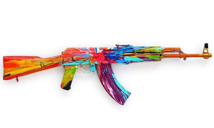 AK47 in colours by Damien Hirst