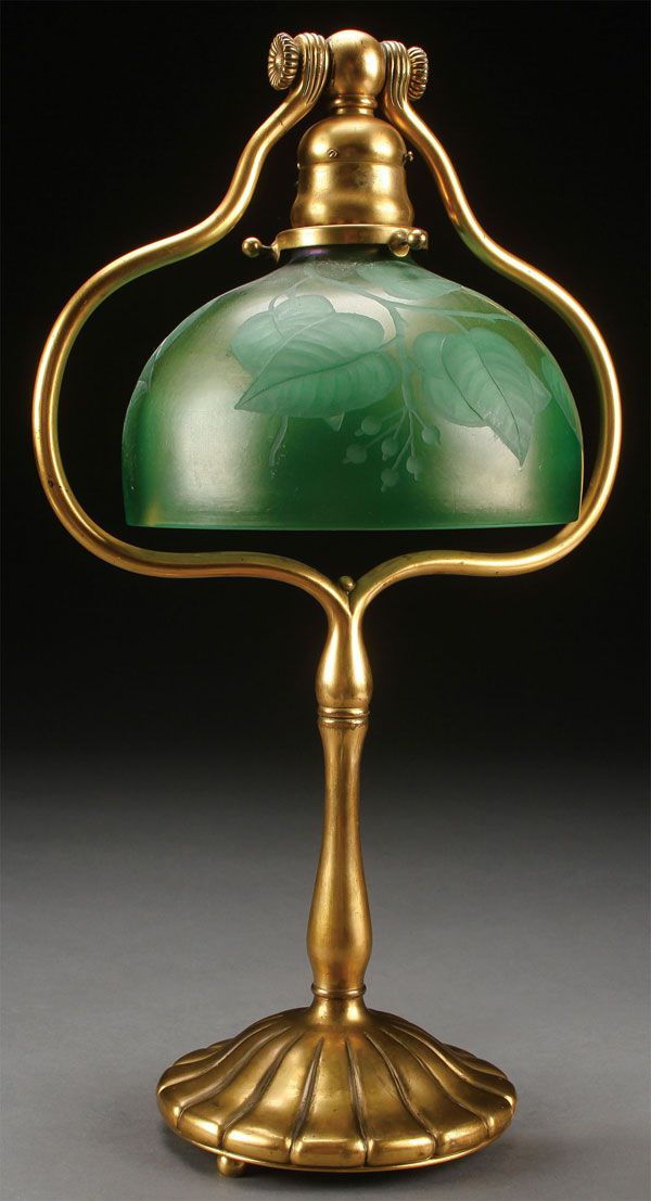Tiffany Studios Favrile Glass Table Lamp.