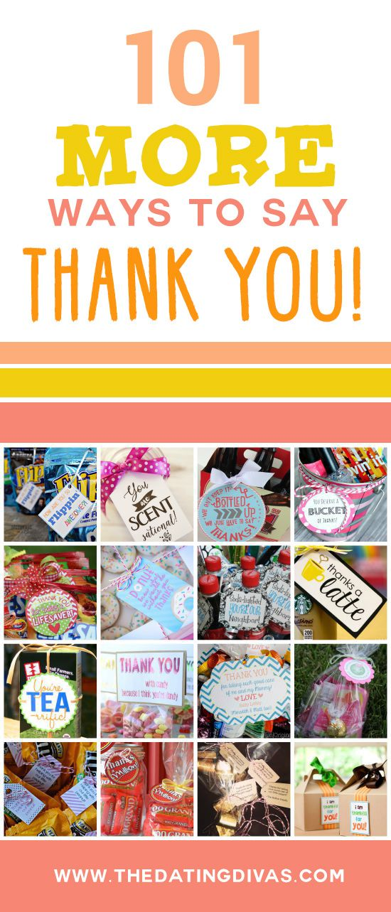 These THANK YOU ideas are just what I was looking for! www.TheDatingDivas.com