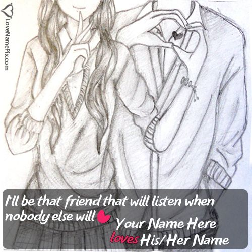 Write sweet couples name or best friends name on Cute Images Of Love Friendship photos and send these sweet love wishes to the person you love most. Also Surprise your loved ones with these cute images.
