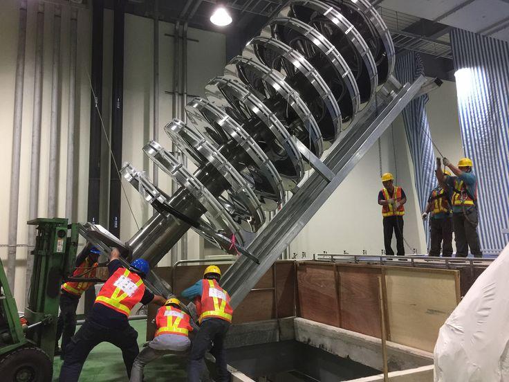 In-site installation of spiral conveyor