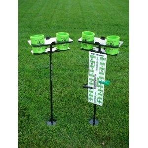 Ordinaire Backyard Barkeep Drink Holder Set For Use With Backyard Games Cornhole,  Bocce, Horseshoes, Washers, Bags Tailgating