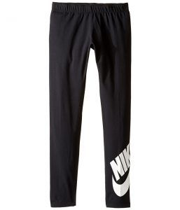 Nike Kids Sportswear Leg-A-See Tight (Little Kids/Big Kids) (Black/White) Girl's Casual Pants
