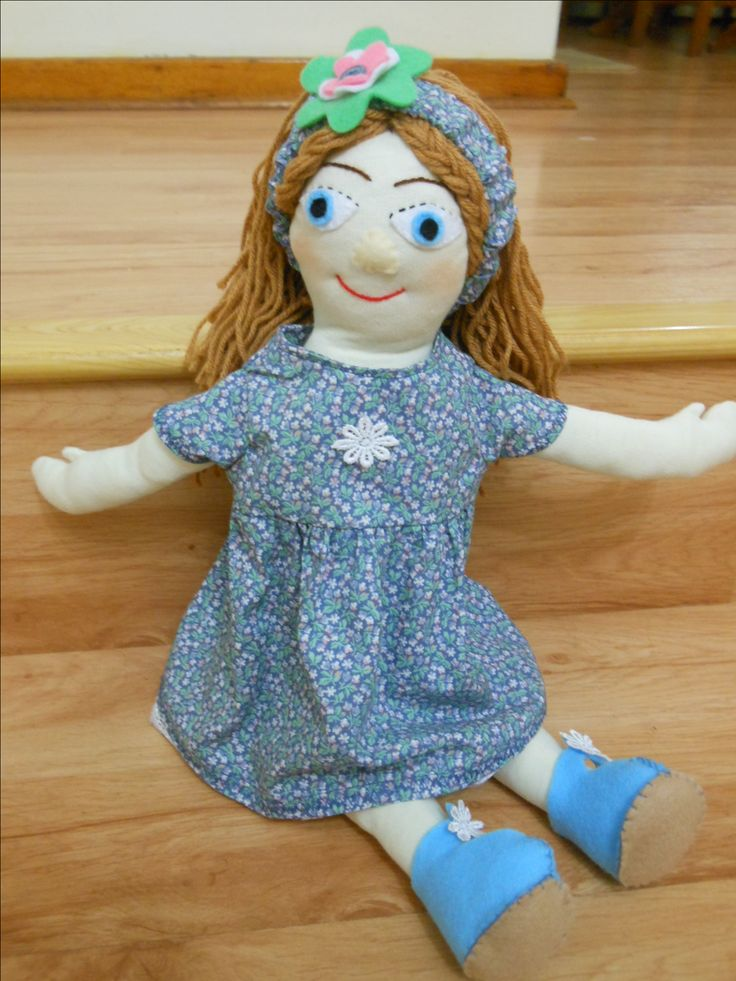 Added a headband to this doll with a felt flower.