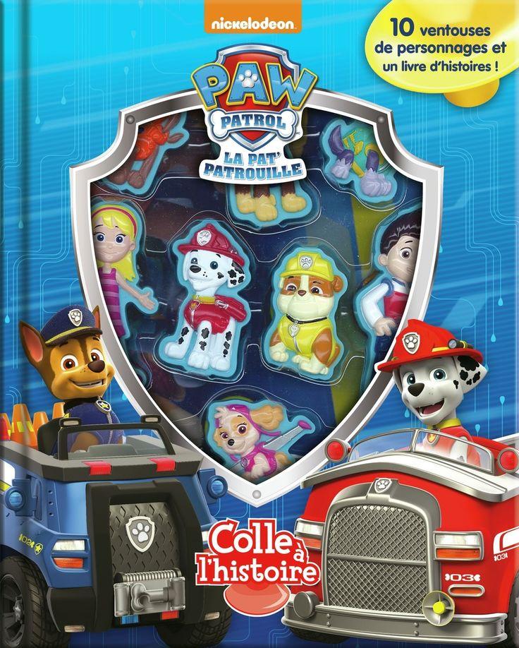 Colle à l'histoire - La Pat'Patrouille - 10 personnages à ventouse et 1 livre d'histoires -  Age : 3 ans et plus -  Référence : 034804 #Jeux #jouets #Enfant #Cadeau #Vacances #famille