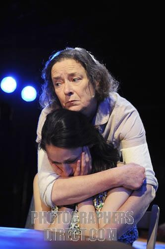 """Linda Bassett and Sian Clifford in """"Road to Mecca"""" by Athol Fugard, Arcola Theatre, London, June 2010"""