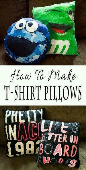 T shirt pillow