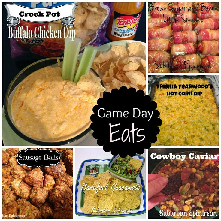 Suburban Epicurean: Super Bowl Sunday Game Day Recipes 2015 - with Crock Pot Buffalo Chicken Dip!