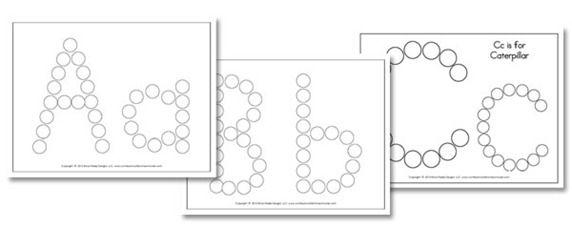 Free do a dot Alphabet sheets
