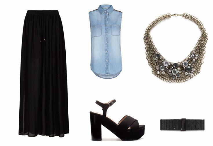 L's Notebook: Cómo combinar una falda larga negra