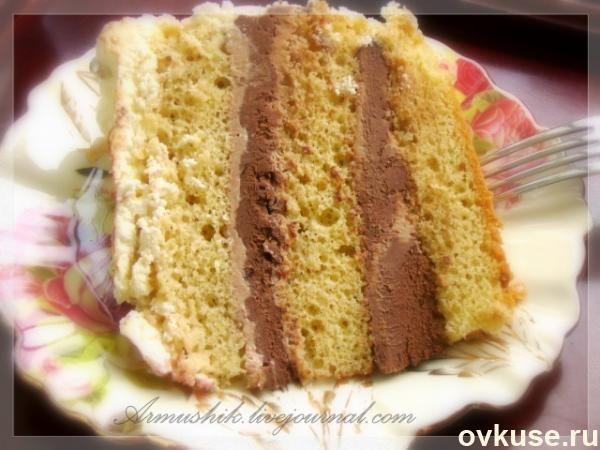 Высокий,нежный бисквит для торта (без духовки)