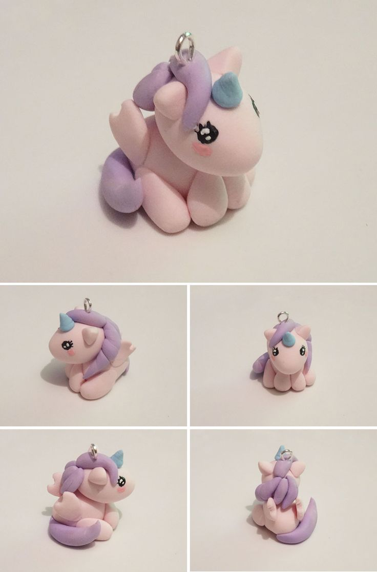 Licorne kawai en pate fimo - Unicorn polymer clay | Fimo, Kawaii, Idee fimo