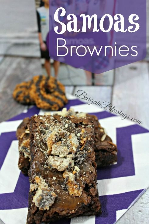 Girl Scout Cookie Recipe: Samoas Brownies