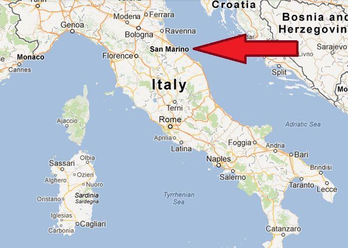 SanMarinoItaly San Marino In Italy Map The World Or Bust I - Italy capital map