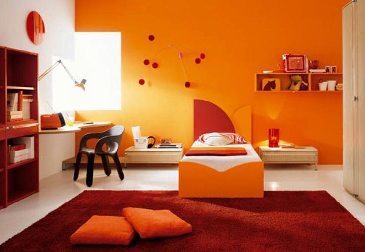 Orange bed room