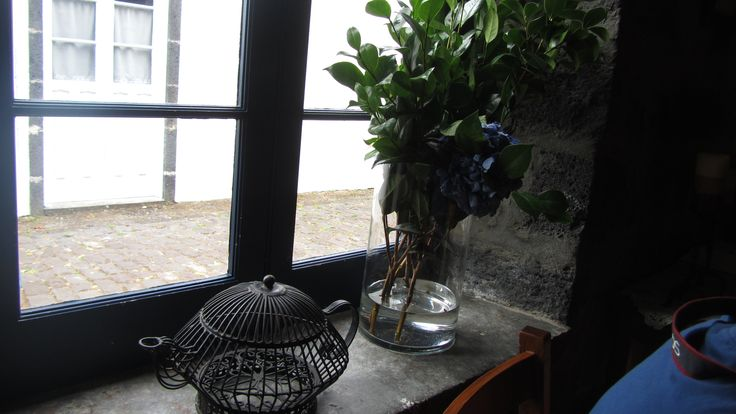 The window sill at Ponte Formoso Tea Factory - Sao Miguel Acores ~ Portugal