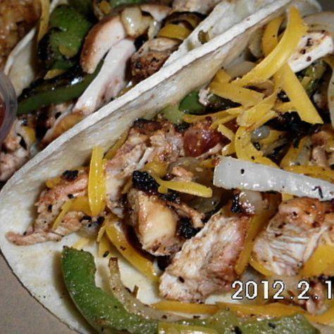 Chicken fajatia's - Low fat/low sodium Recipe   Just A Pinch Recipes