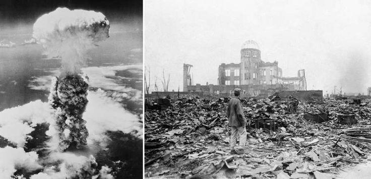 209 - El 6 de agosto de 1945, Estados Unidos lanzó dos bombas atómicas sobre las ciudades de Hiroshima y Nagasaki en las etapas finales de la Segunda Guerra Mundial. Hasta la fecha han sido las únicas dos ocasiones en que se han usado bombas atómicas en un ataque. Estos bombardeos destruyeron  casi el 90 por ciento de Hiroshima. - Dropping of the atomic bombs (1945) - Getty Images