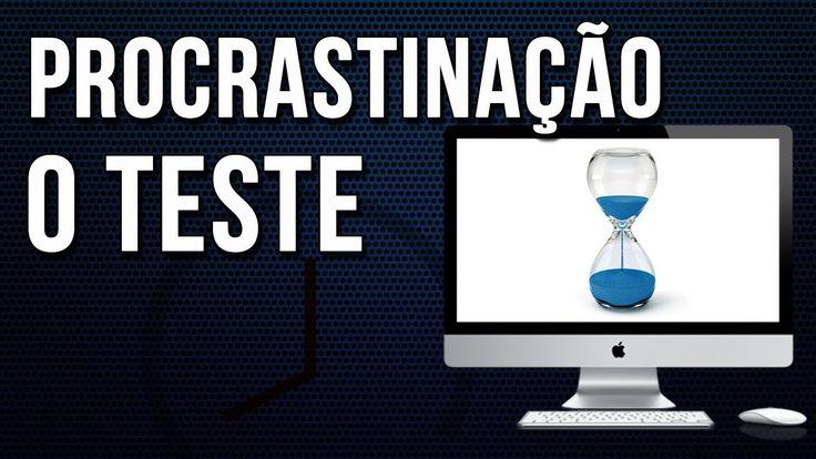Você sabe o que é Procrastinar? Este vídeo super bacana e simples, tem um teste para descobrir se você é um procrastinador crônico. Faça o teste, você vai se surpreender! https://www.youtube.com/watch?v=lTWh689h-dE