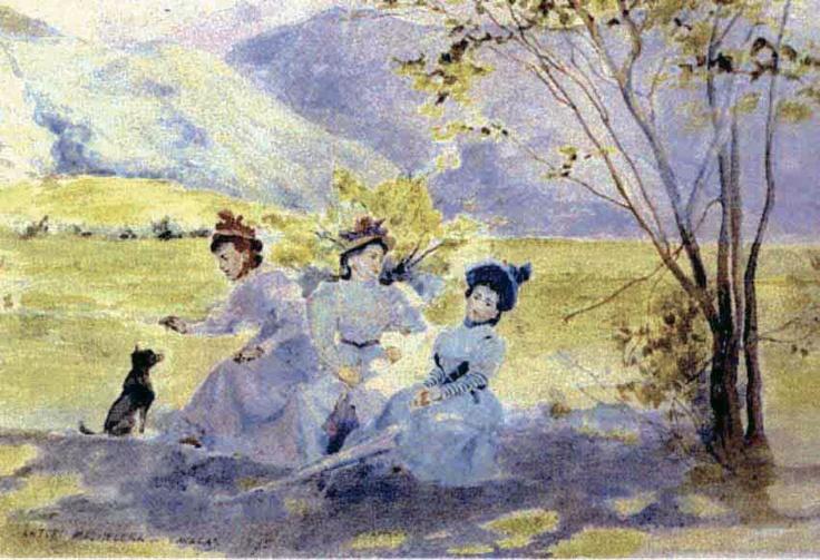 Señoritas en el campo, 1895 Arturo Michelena