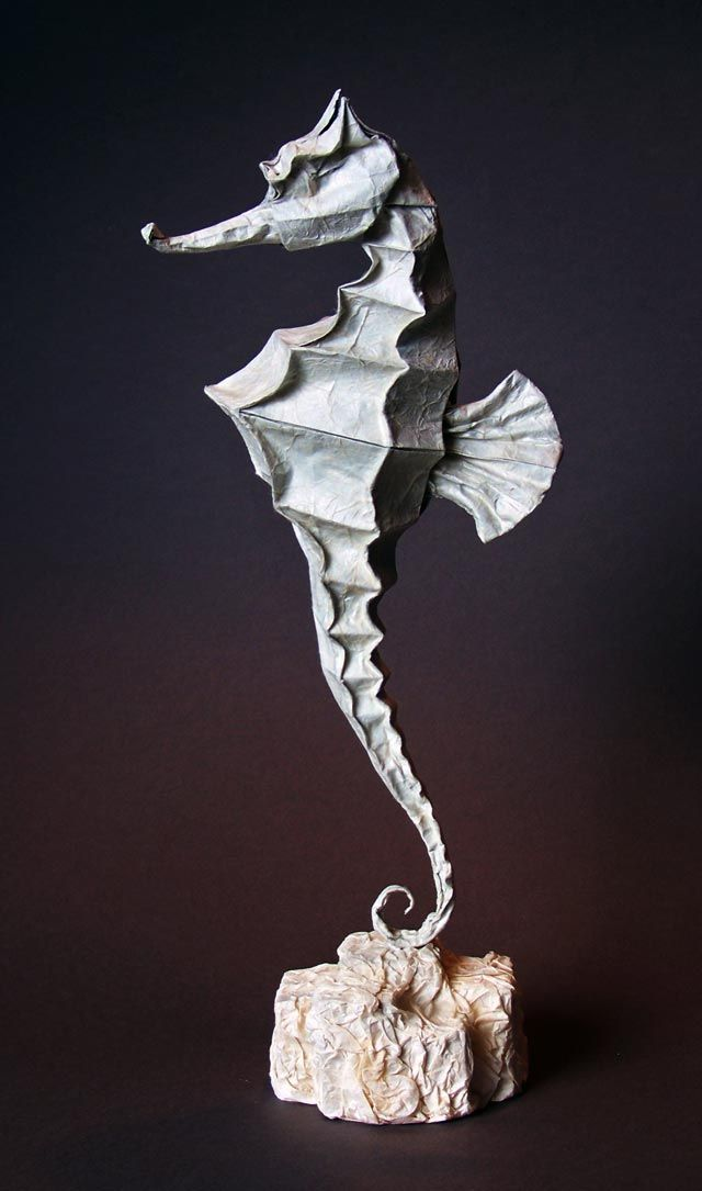 origami seahorse origami pinterest sculpture origami and paper. Black Bedroom Furniture Sets. Home Design Ideas