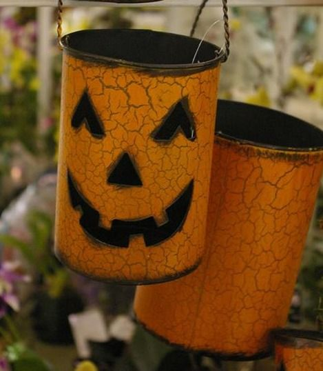 Tin Can Jack-o-lanterns / Pike Nurseries Facebook