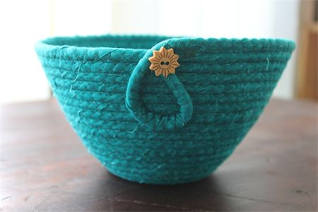 Coiled fabric basket | BasketCase | madeit.com.au