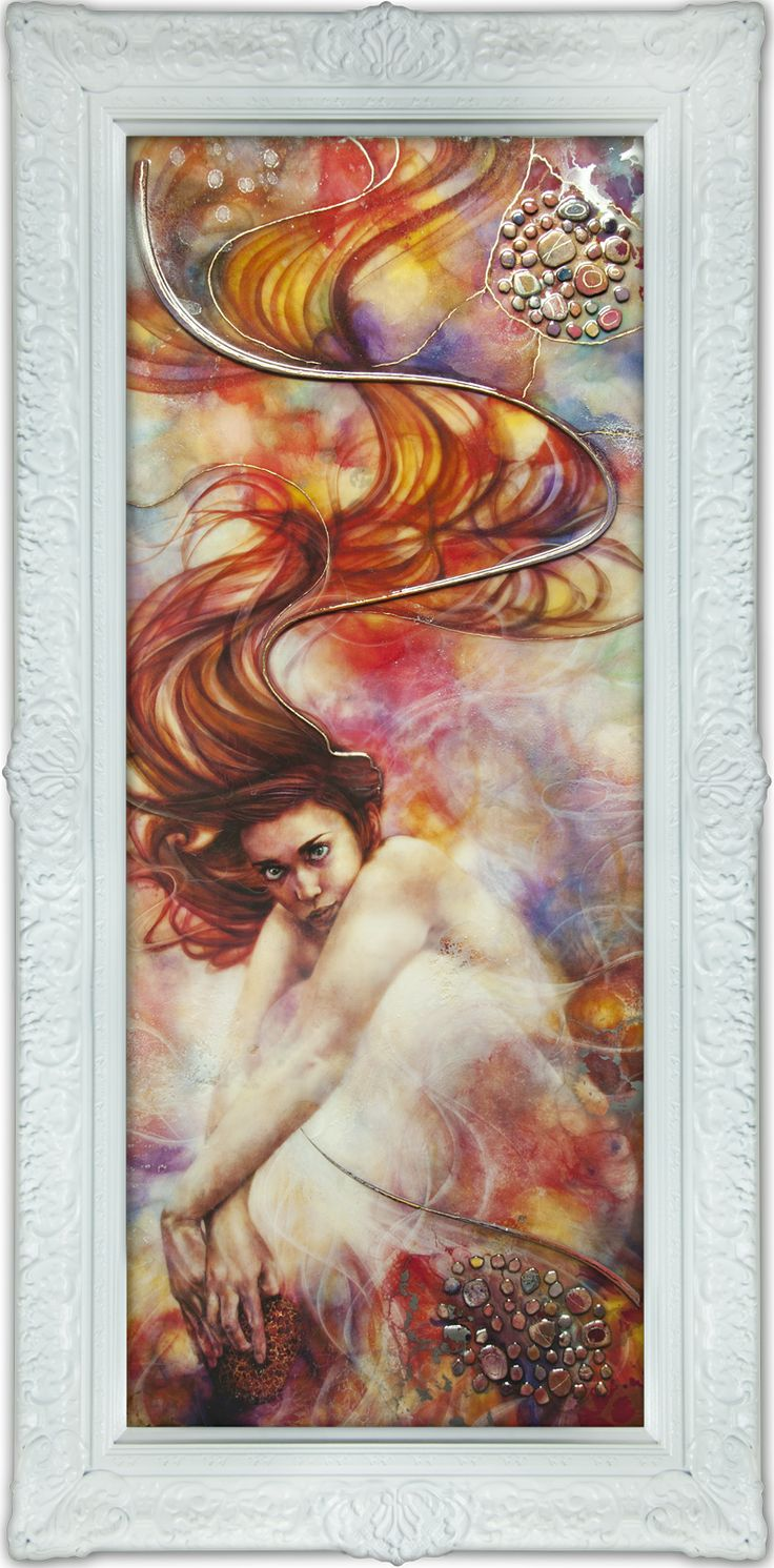 'Pandora's Box' ethereal Kerry at her best and in a hand finished frame. In the gallery at the moment.