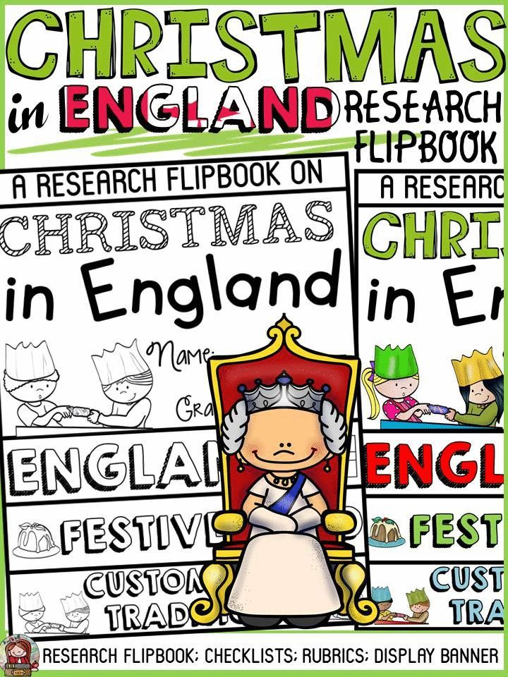 Have your students practice research writing skills by collating and recording information in this flipbook on Christmas in England. The titles, pictures and writing prompts for each section of the flipbook scaffold writing and research. https://www.teacherspayteachers.com/Product/CHRISTMAS-IN-ENGLAND-INFORMATIONAL-REPORT-WRITING-RESEARCH-FLIPBOOK-3523652