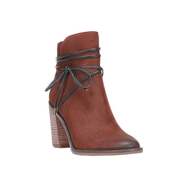 Women's Franco Sarto Edaline Ankle Boot - Tan Ranch Leather Casual ($149) ❤ liked on Polyvore featuring shoes, boots, ankle booties, casual, leather boots, tan ankle booties, tan ankle boots, ankle boots, franco sarto boots and leather lace up booties