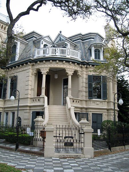 """❥ Victorian """"Trube Castle"""" on Sealy and 17th St. in Galveston, Texas."""