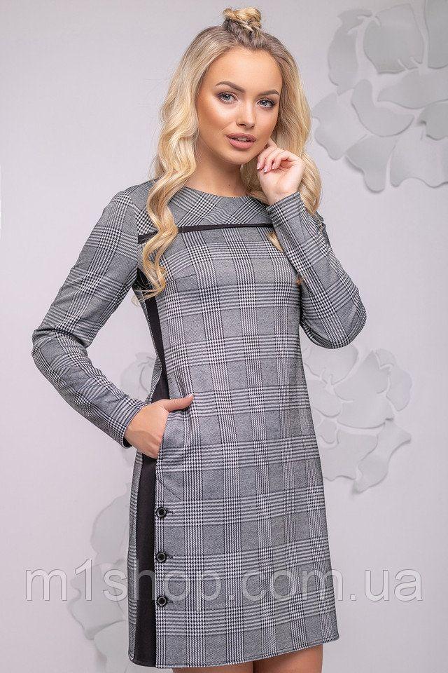 6272aae76f8 Женское асимметричное платье в клетку (2776-2775-2777 svt) купить недорого