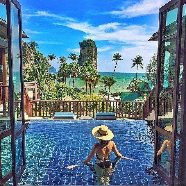 Famous fashion blogger @tuulavintage enjoying Centara Grand Beach Resort & Villa's in Krabi in Thailand @centara