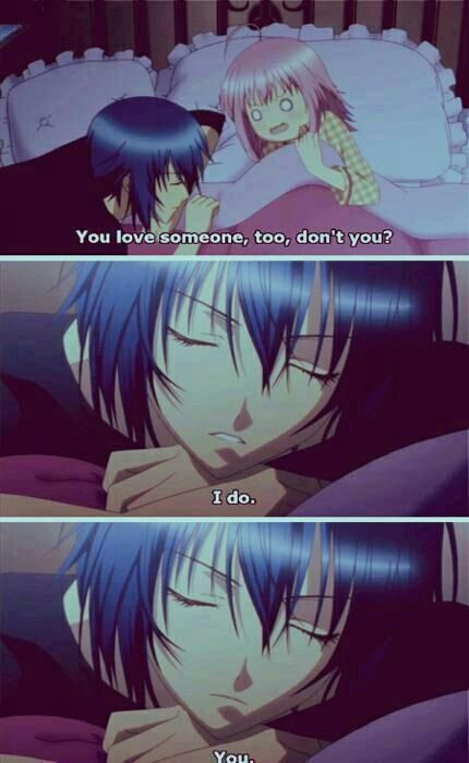 Day 70- tell me that! Tell me that! Shugo Chara. This is my favorite part! I hope they make another season, of them in high school, she dumps her boyfriend prince and this wonderful man here, comes back into her life like he promised. I think he is only 2 years older than her.