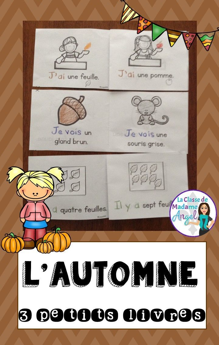 Les petits livres d'automne! Love this set of mini emergent readers in French! Perfect for my Fall or Autumn themed unit!