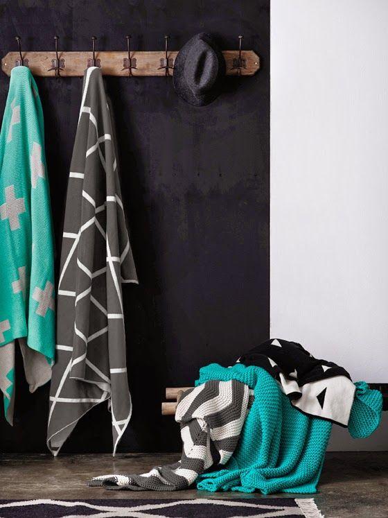 AURA Home Winter 2014 collection, throws
