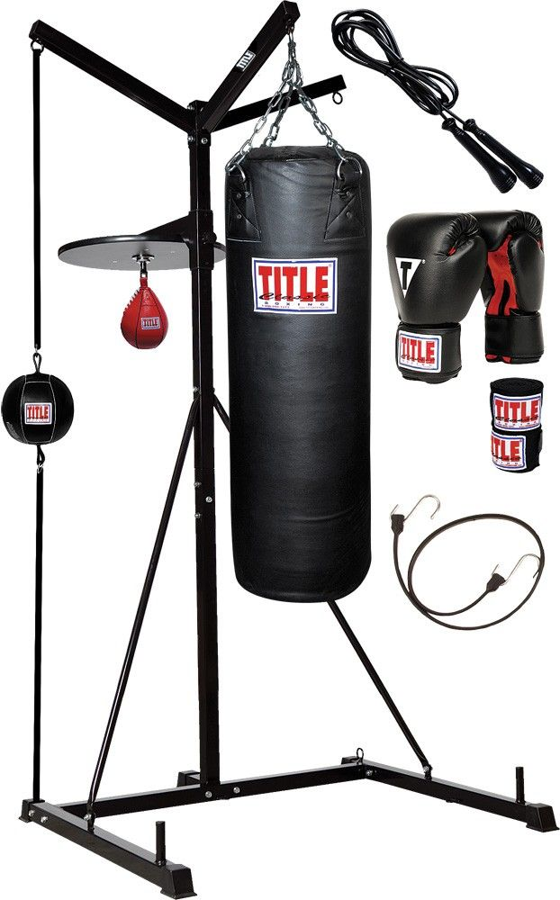 TITLE 4-SCORE PUNCHING BAG STAND WITH BAGS | TITLE MMA Gear