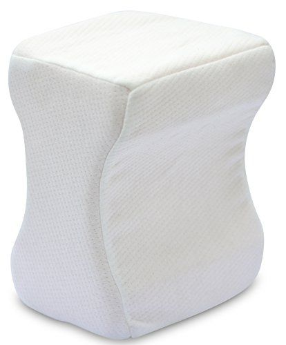 Memory Foam Knee Pillow - Helps Relieve Lower Back Leg and Knee Pain - Leg Pillow Includes Soft Removable Cover >>> You can get additional details at the image link.