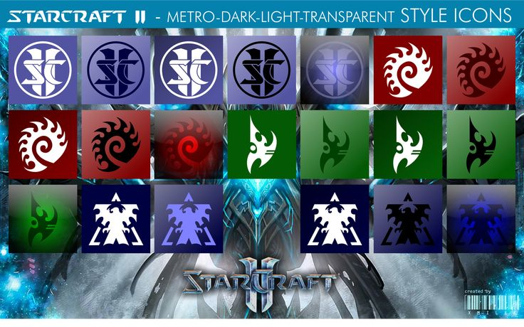 StarCraft II - Mix Style Icons by xmilek.deviantart.com on @deviantART