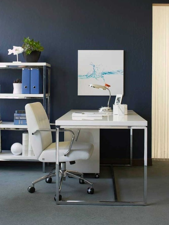 13 best images about blue inspirational decor on pinterest for Home office renovation ideas