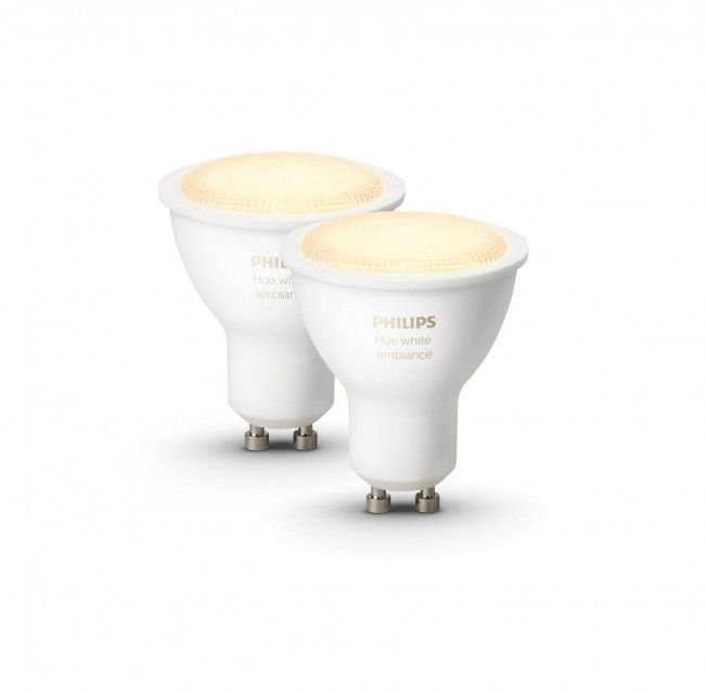 Philips hue GU10 white ambiance losse lampen  SHOP ONLINE: https://www.purelifestyle.be/technology/iphone/accessoires/philips-hue/lampen/philips-hue-gu10-white-ambiance.html