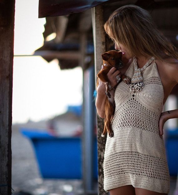 Crochet Beach Dress Summer Dress by byrosali on Etsy