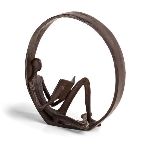 Danya B™ Encircled Reader Iron Sculpture