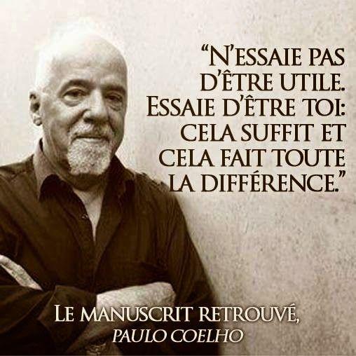 Citations et Panneaux Facebook à partager: Citation de Paulo Coelho sur la personnalité
