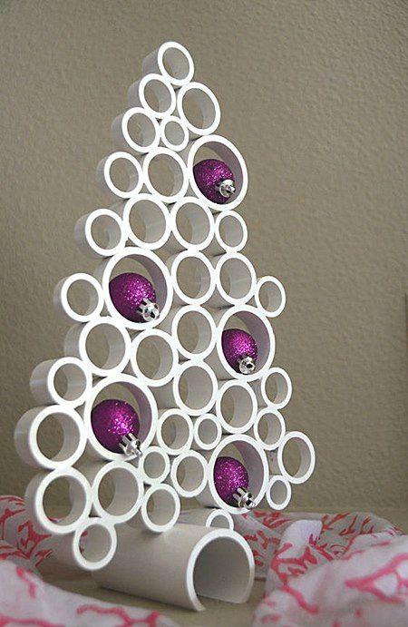 Prepárate con Desatascos Castellón para esta Navidad. Si te sobran unos trozos de tuberías o tubos de Pvc, y te gustan las manualidades, decora tu casa.