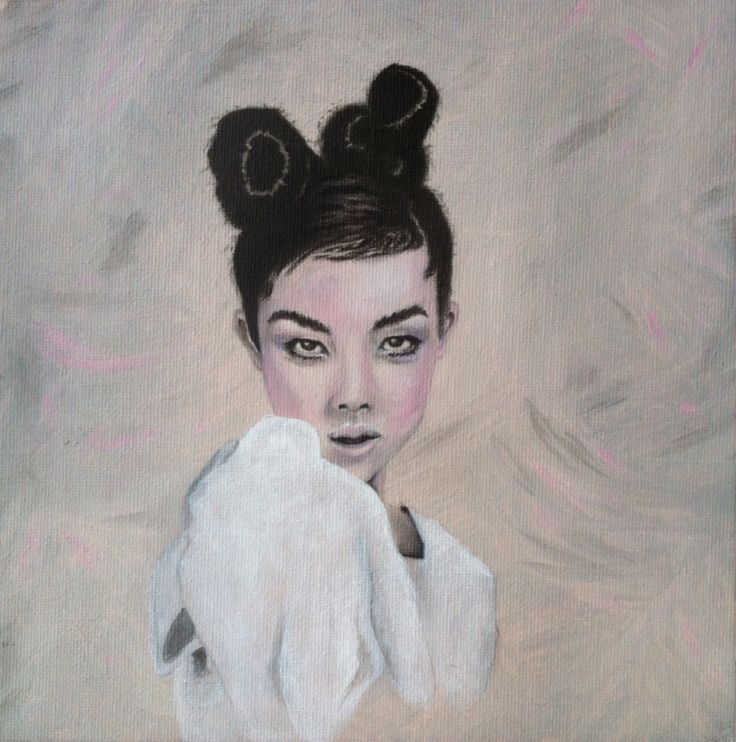 Portrait - Illustration - charcoal & acrylics on canvas panel
