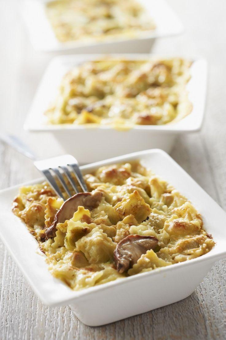 Recette Gratin de ravioles aux Cèpes - Une recette Saint Jean